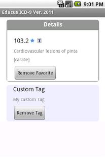 Educus ICD-9 Codes Ver. 2011- screenshot thumbnail