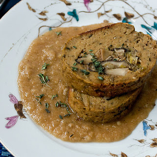Seitan Roast Stuffed With Shiitakes And Leeks