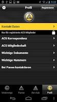Screenshot of ACS App