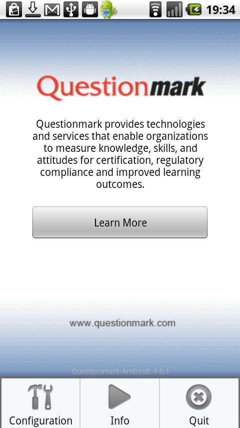 Questionmark- screenshot