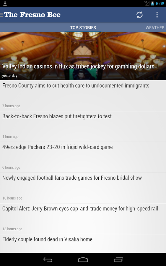 Fresno Bee newspaper - screenshot