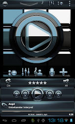Poweramp skin Black Petrol APK screenshot thumbnail 2