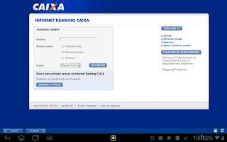 Screenshot of CAIXA para Tablets
