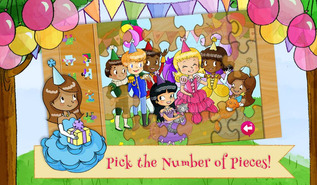 Princess Birthday Party Puzzle- screenshot