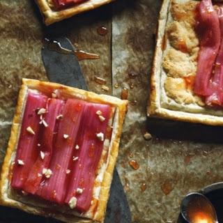 Roasted Rhubarb and Almond Tartlets
