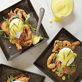 Fried Soft-Shell Crabs Benedict.