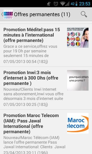 Promotions Opérateurs Maroc
