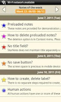 Screenshot of Notepad - Star Note Demo