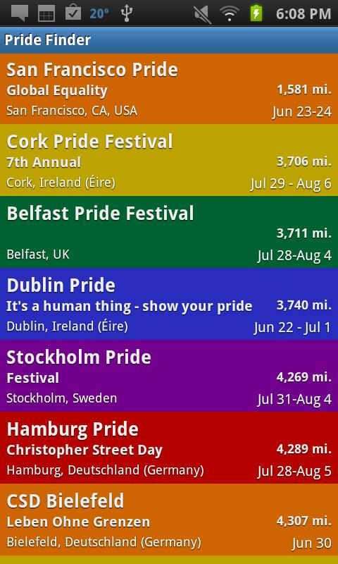 Gay Pride Finder - screenshot