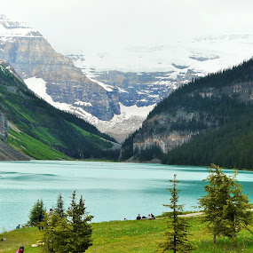 Lake Louise by Thakkar Mj - Landscapes Mountains & Hills ( mountain, nature, snow, louise, lake,  )