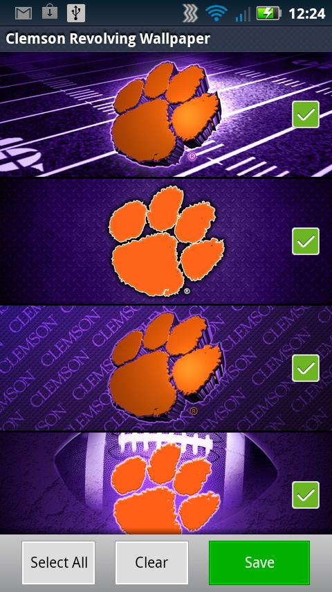 Clemson Revolving Wallpaper- screenshot