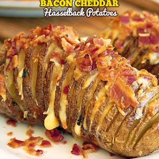 Bacon Cheddar Hasselback Potatoes.
