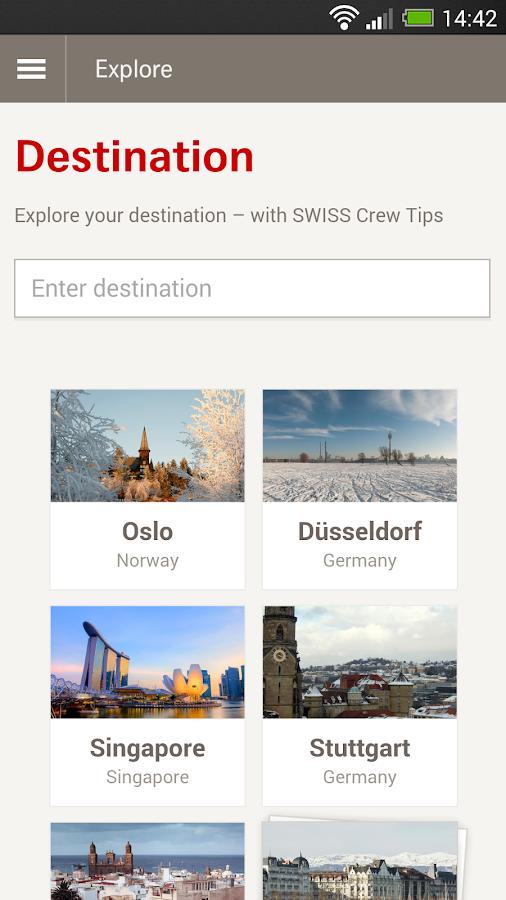 SWISS: captura de pantalla