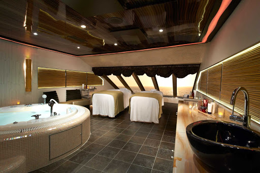Carnival-Magic-Spa-Couples-Treatment-Suite - Indulge in some luxury with a friend at Cloud 9 Spa's couples treatment suite, a floating resort on Carnival Magic.