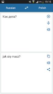 Russian Polish Translator - náhled