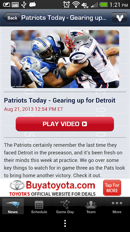 New England Patriots 2013 - screenshot