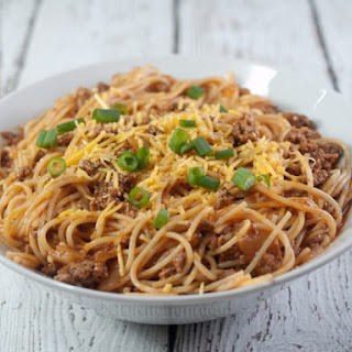 Slow Cooker Chili Spaghetti