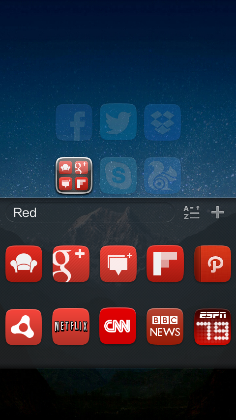 GO Launcher EX UI5.0 theme - screenshot
