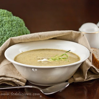 Roasted Apple & Broccoli Soup with Whipped Garlic Feta