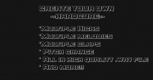 Hardcore gabber drums app