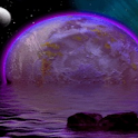 Purple Moon Reflection LWP