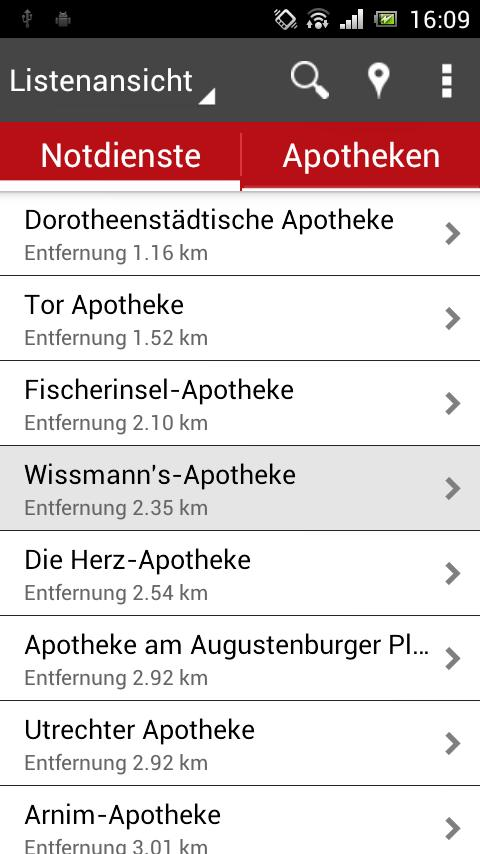 Apotheken der ABDA - screenshot