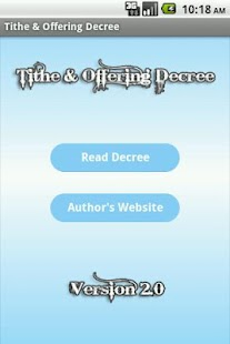 Tithe & Offering Decree - screenshot thumbnail