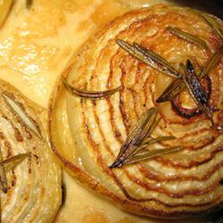 Onions Baked with Rosemary and Cream