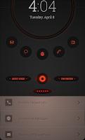 Screenshot of Dark Orange Theme