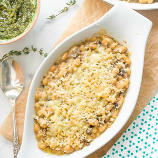 White Bean Wild Mushroom Gratin {2 Cooking Methods}