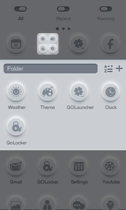 During - GO Launcher Theme - screenshot