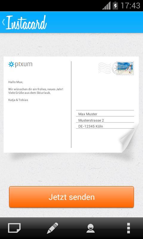 Pixum Instacard Postkarte - screenshot