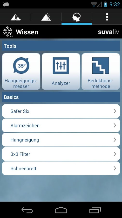 White Risk - SLF Avalanche App - screenshot