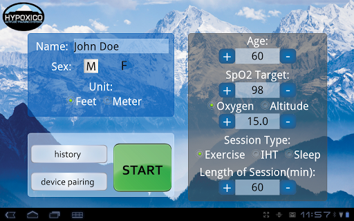 Hypoxico Altitude Training