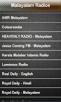 Screenshot of Malayalam Radio Radios