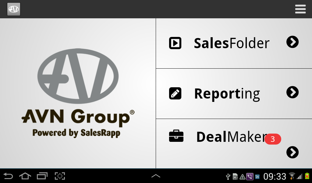AVNGroup SalesRapp - screenshot