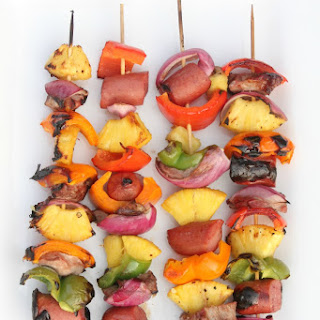 Grilled Pineapple, Pork & Sausage Kabobs With Marinade Recipe!