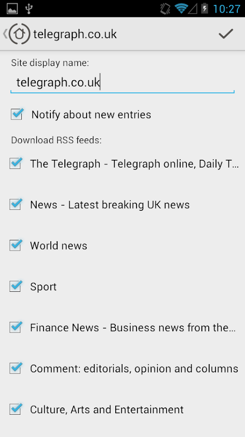 My Sites - news reading- screenshot