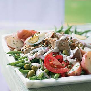 Salade Niçoise with Creamy Tofu Dressing.