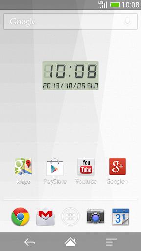 LED clock widget M-Me Clock