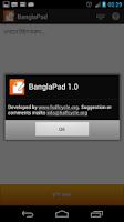 Screenshot of Bangla Pad