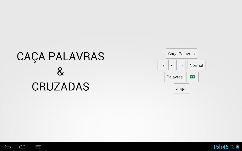 Caça Palavras & Cruzadas - screenshot