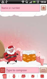 GO SMS Pro Santa Claus Theme - screenshot thumbnail