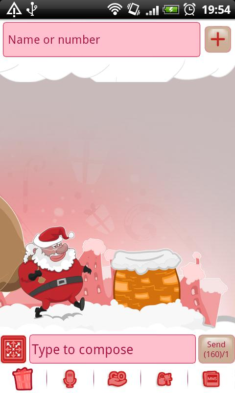 GO SMS Pro Santa Claus Theme - screenshot