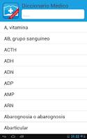 Screenshot of Diccionario Médico