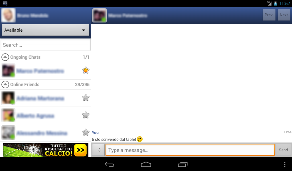 myChatDroid for Facebook Chat - screenshot