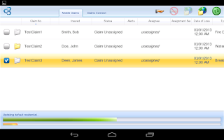 Screenshot of Symbility Mobile Claims