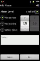 Screenshot of Battery Alarm (English)