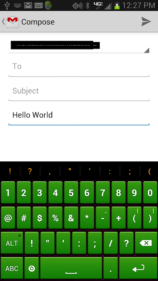 Green Keyboard - screenshot
