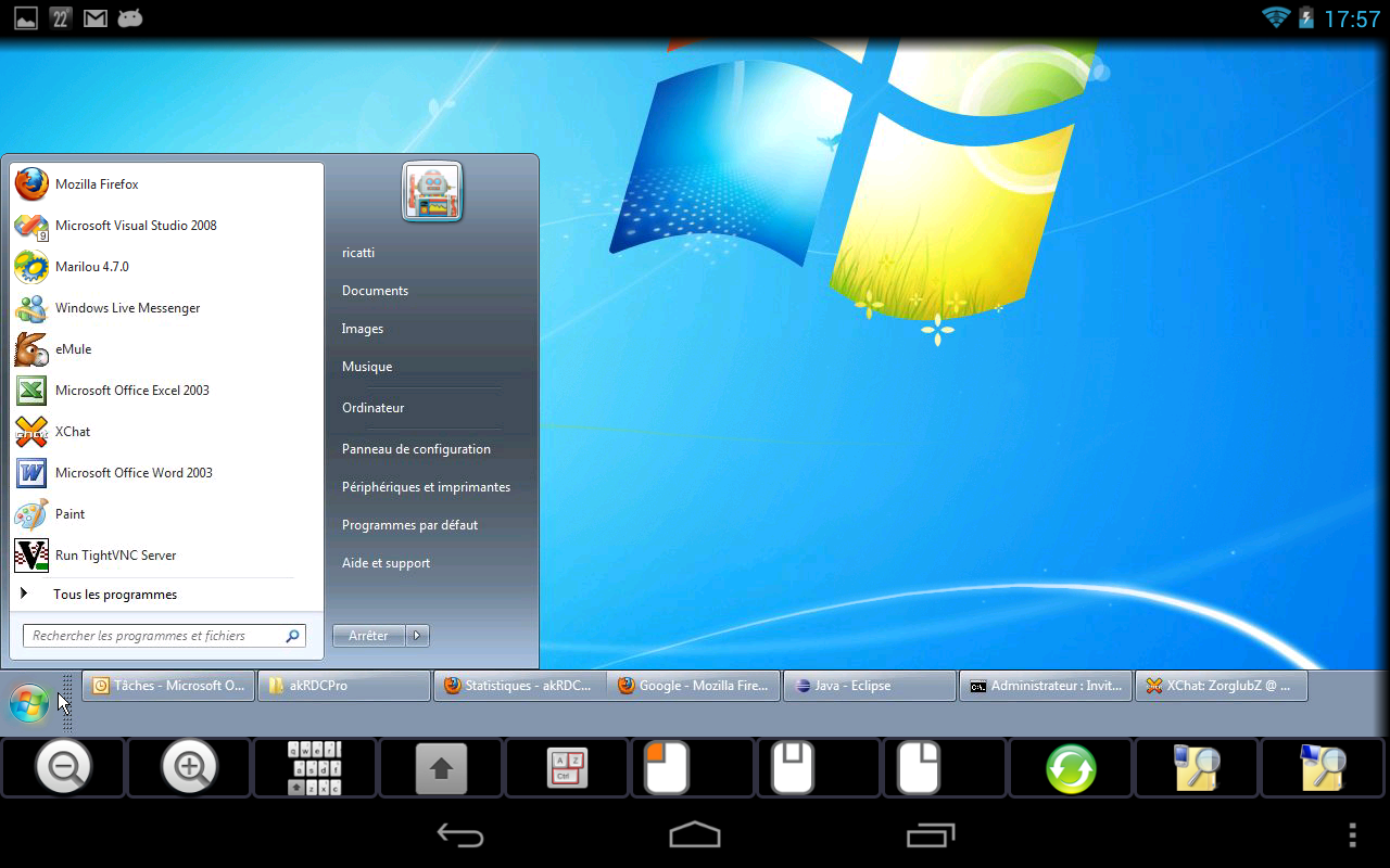 Control android from pc vnc